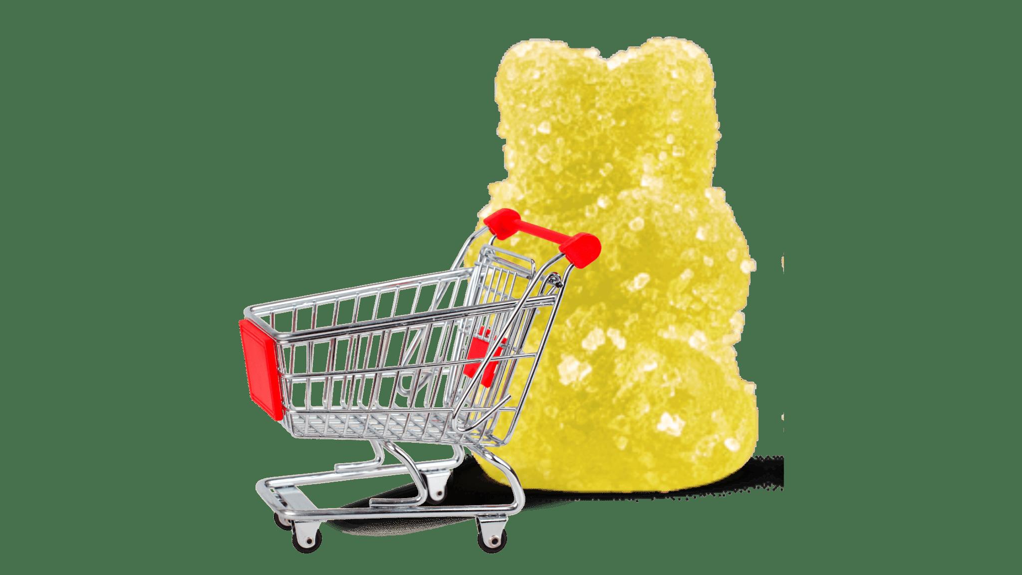 yellow gummy shopping