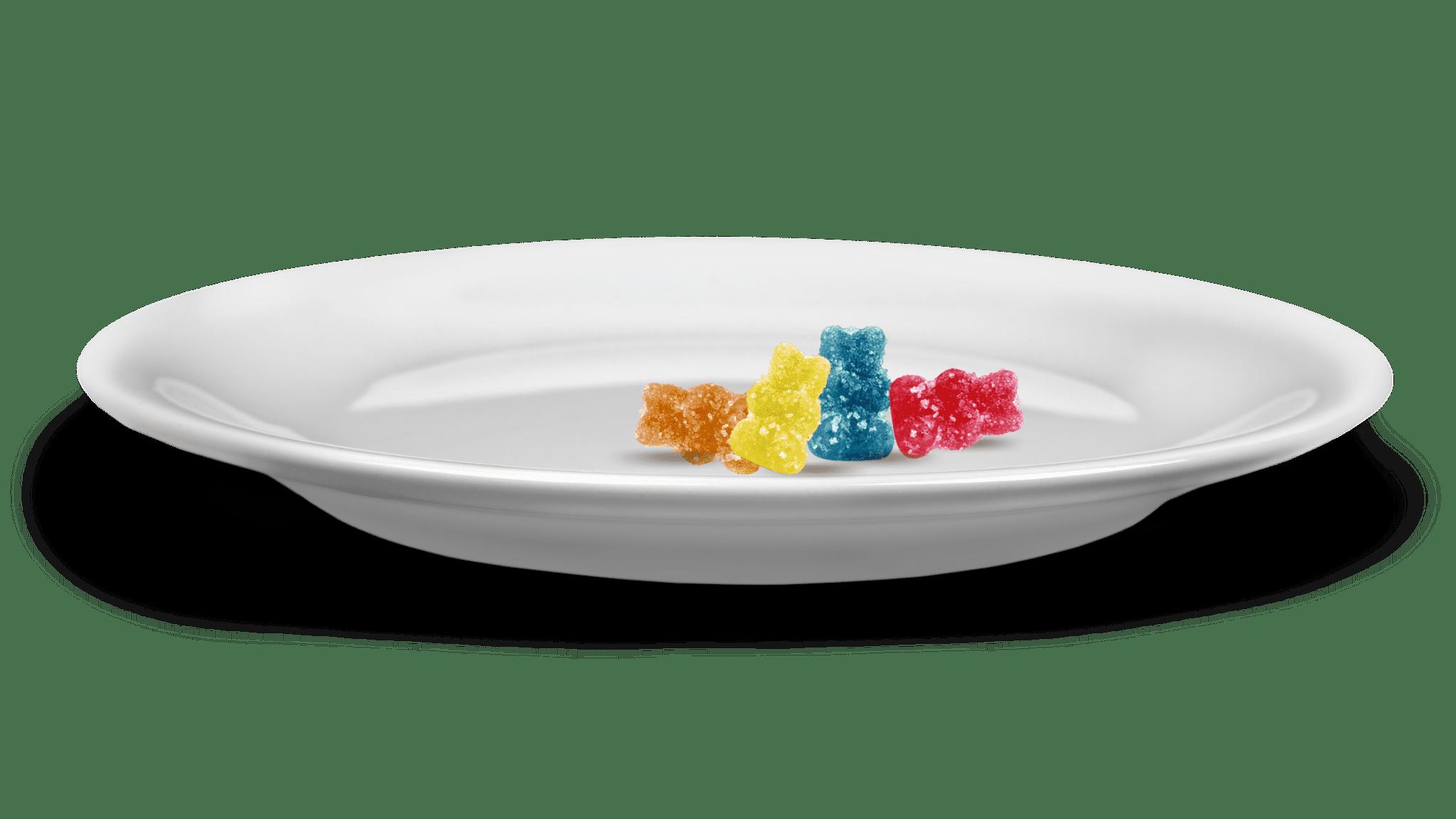 gummy-bears-on-plate