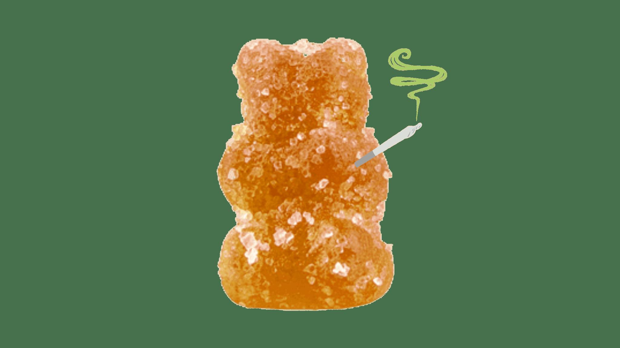 orange-gummy-bear-smoking