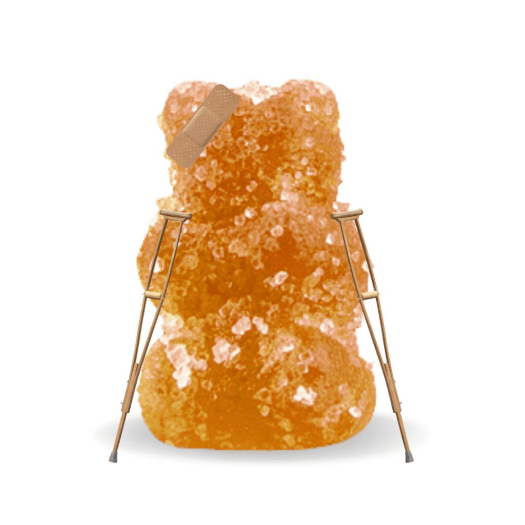 injured gummy bear