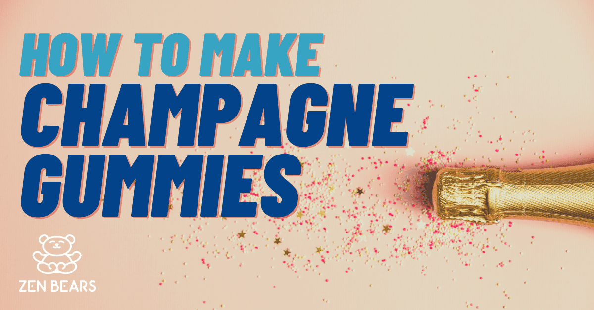 Recipe for making champagne gummy bears